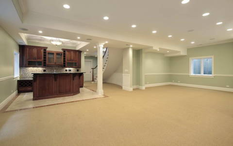 high end basement