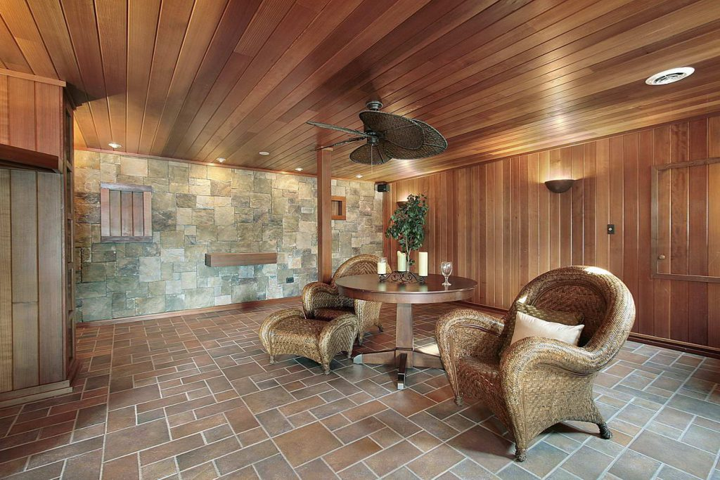 Image of a home steam sauna