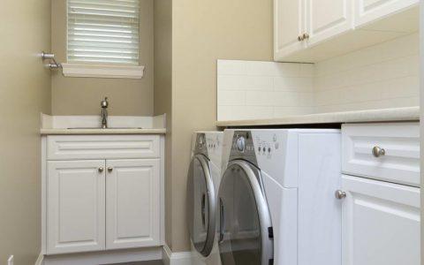 basement laundry room maple