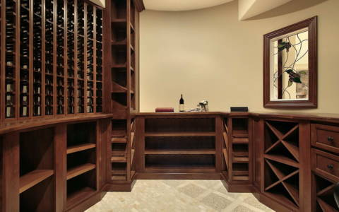 wine room basement