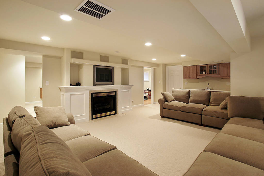 minimalism basement renovation