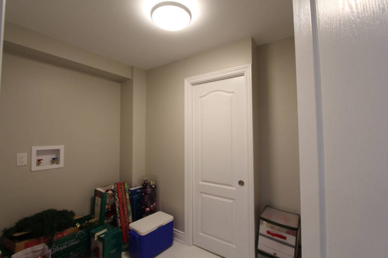 basement door install and wall painting - basement finishing newmarket