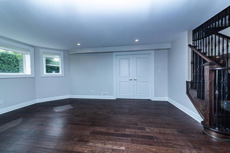 basement renovation in maple