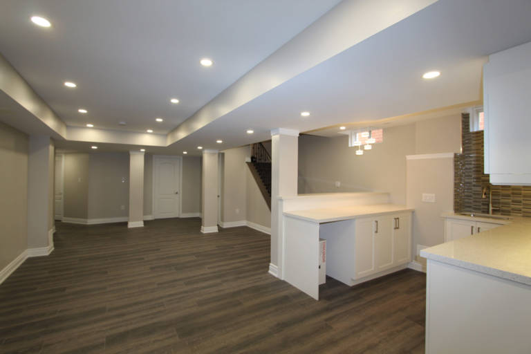 basement designers toronto - amazing basement with kitchen and family room