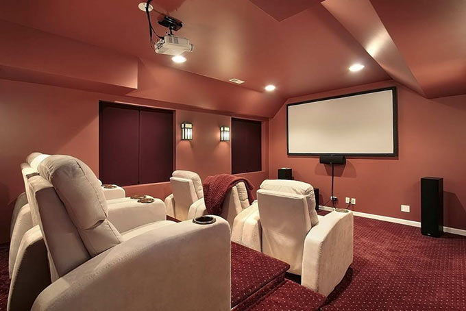 home theater basement