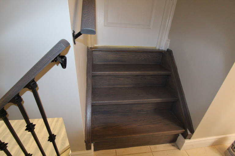 basement stairs and door - basement renovations oakville