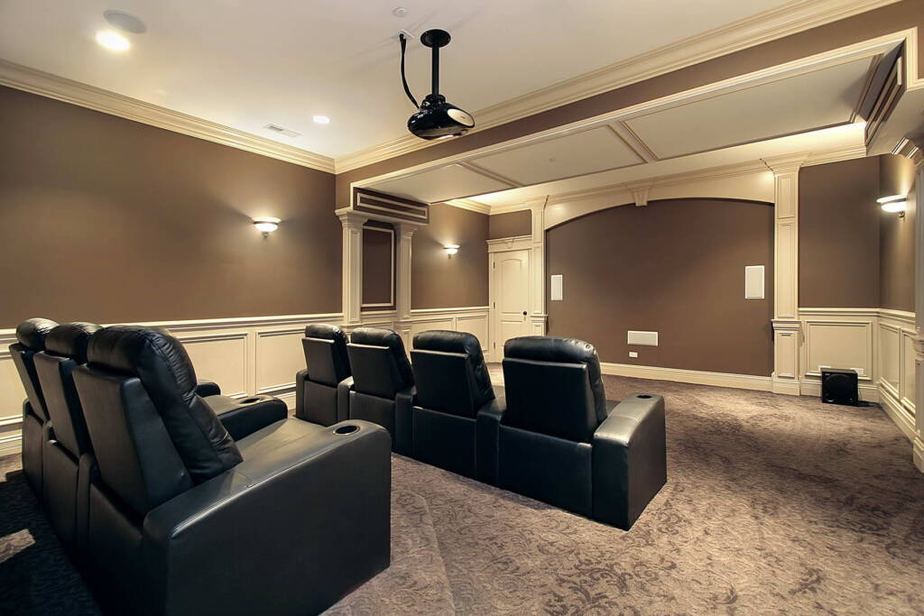 Custom Basement Home Theater - Basement Contractor North York