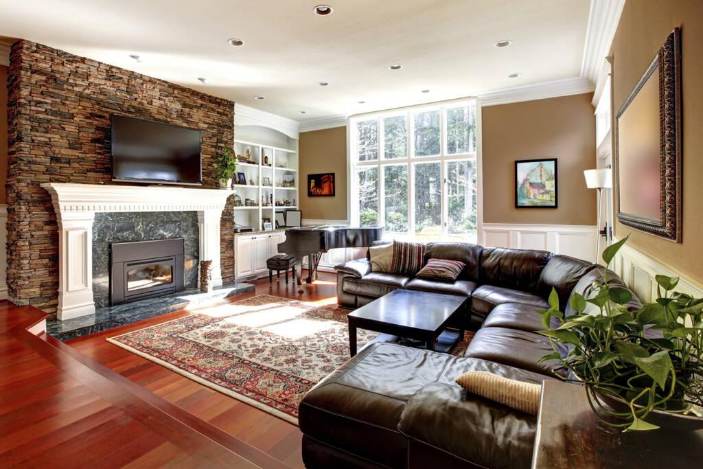 Custom Family Room Design by Maple Reno - Complete Home Renovation Company Markham